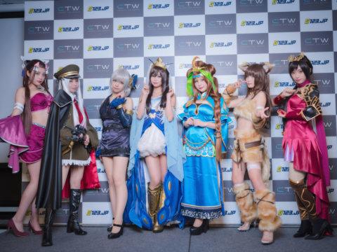 五木あきらを始め、人気コスプレイヤー7人が百花繚乱!ゲームサイト「G123.jp」発表会