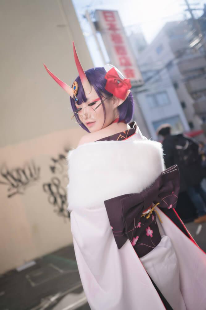 酒呑童子(概念礼装「鬼に衣)「Fate/Grand Order」のコスプレをするコスプレイヤーぶん〜さん009