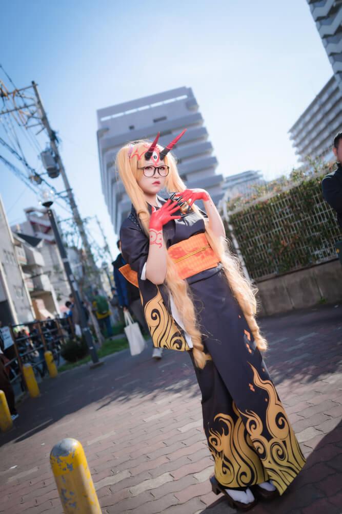 茨木童子(概念礼装「鬼に衣)「Fate/Grand Order」のコスプレをするコスプレイヤーrakuさん005