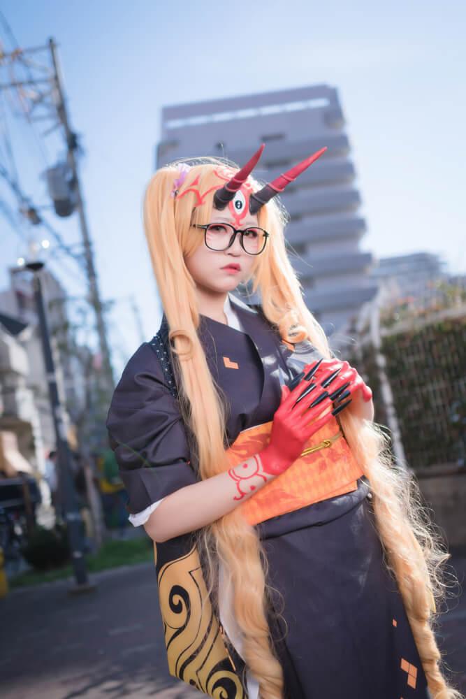 茨木童子(概念礼装「鬼に衣)「Fate/Grand Order」のコスプレをするコスプレイヤーrakuさん006