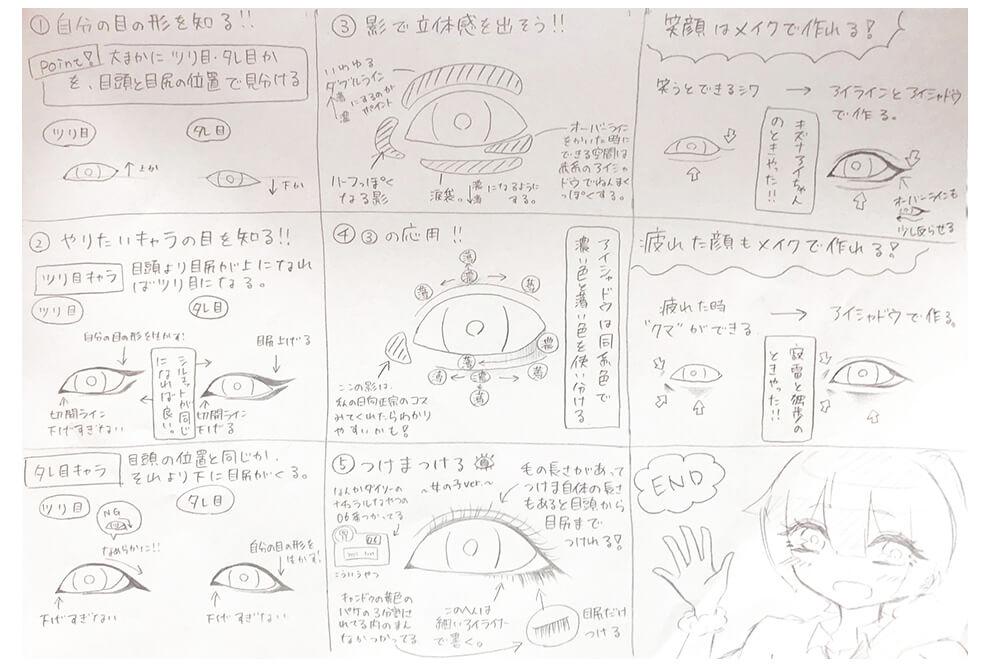 目の形自由自在!蒼依monako流~アイメイク編~【丁寧な手書き説明書付き】