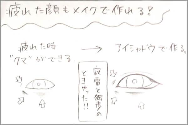 蒼依monako流アイメイク手書きのイラスト手順その8