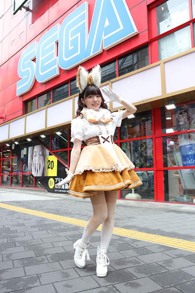 セガ池袋 GIGOに来店したはなまるアニマルの和泉さん01