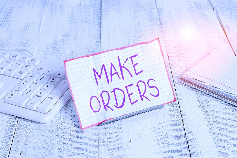 """見積書をもらう""""make order"""""""