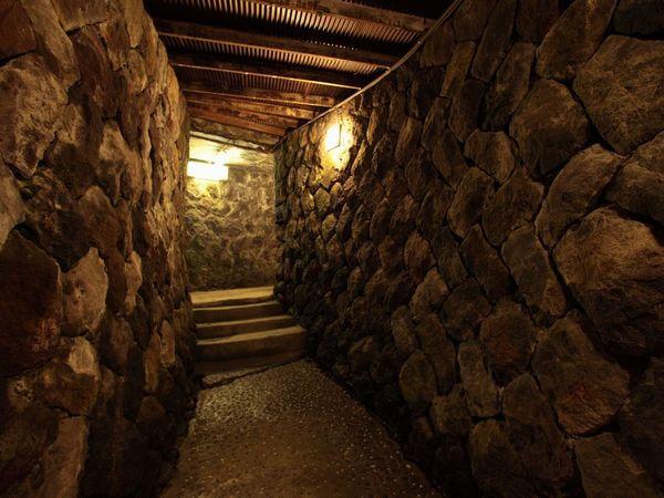菱野温泉薬師館の大浴場のコスプレでの撮影も可能な岩場の通路02