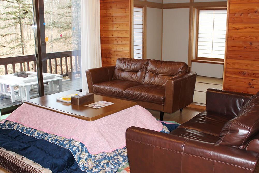 貸別荘ルネス軽井沢の宿泊部屋の様子