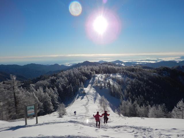 雲取山の雪景色
