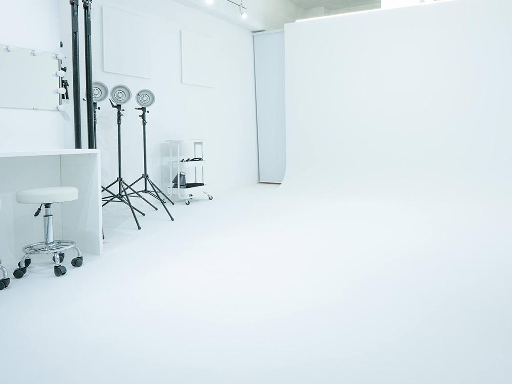 川崎の格安白ホリスタジオ「BORDERLESS」のスタジオ内の様子