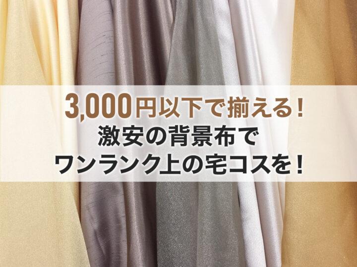【アンダー3,000円】激安の背景布でワンランク上の宅コスを!