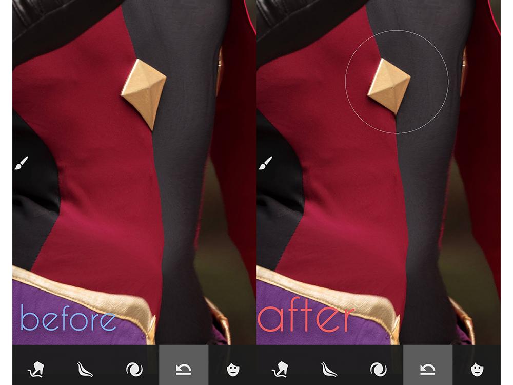 Adobe Photoshop Fixで歪んでしまったパーツを直す工程