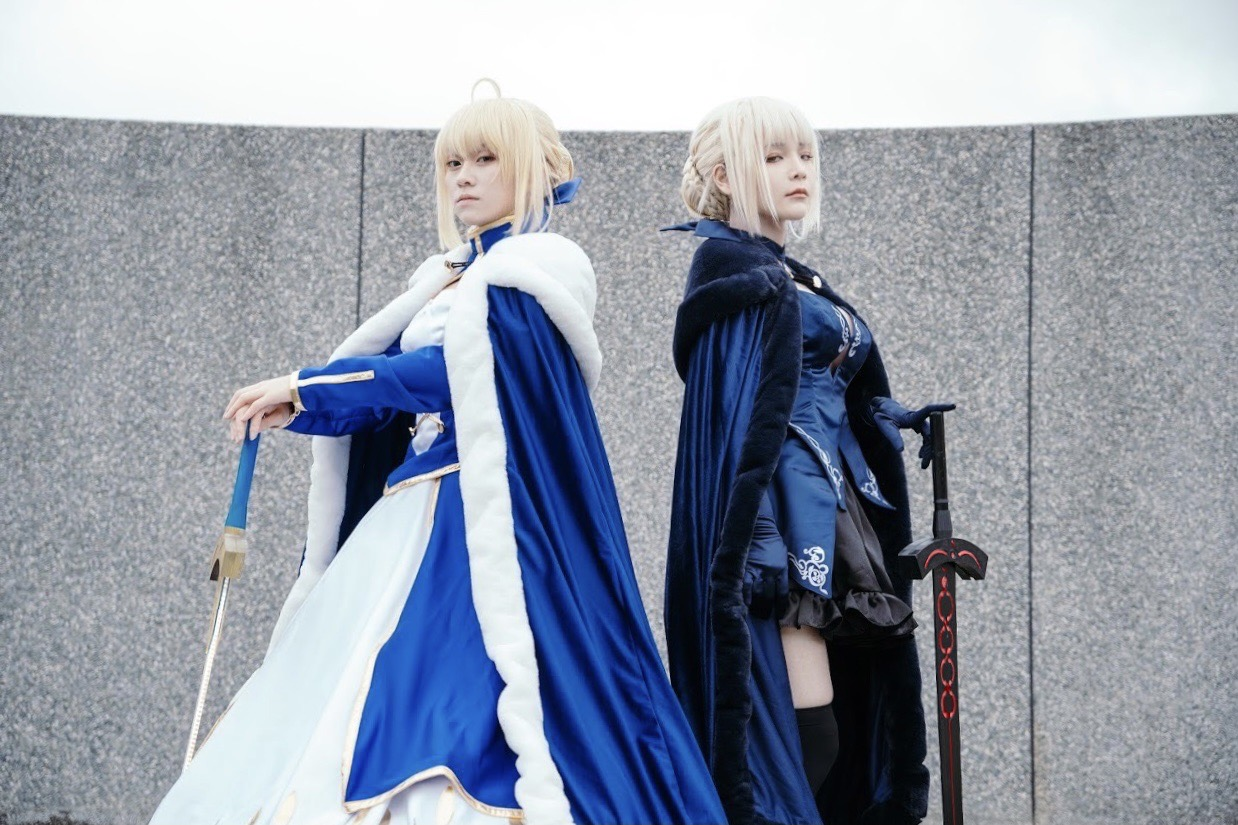 Fate/Grand Orderのコスプレをするオーシャンとビンガン