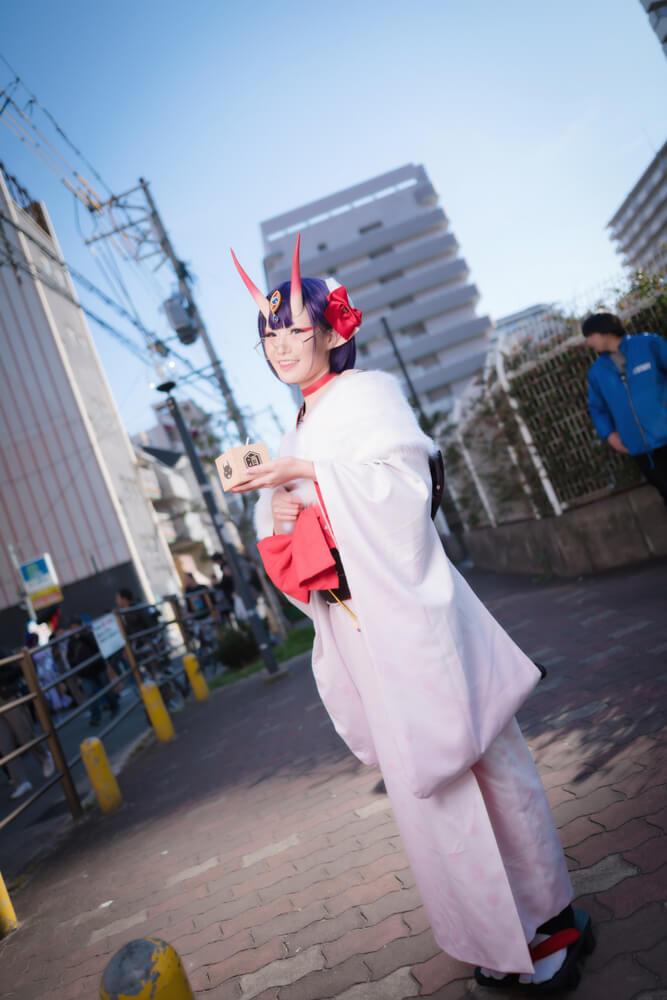 酒呑童子(概念礼装「鬼に衣)「Fate/Grand Order」のコスプレをするコスプレイヤーぶん〜さん001