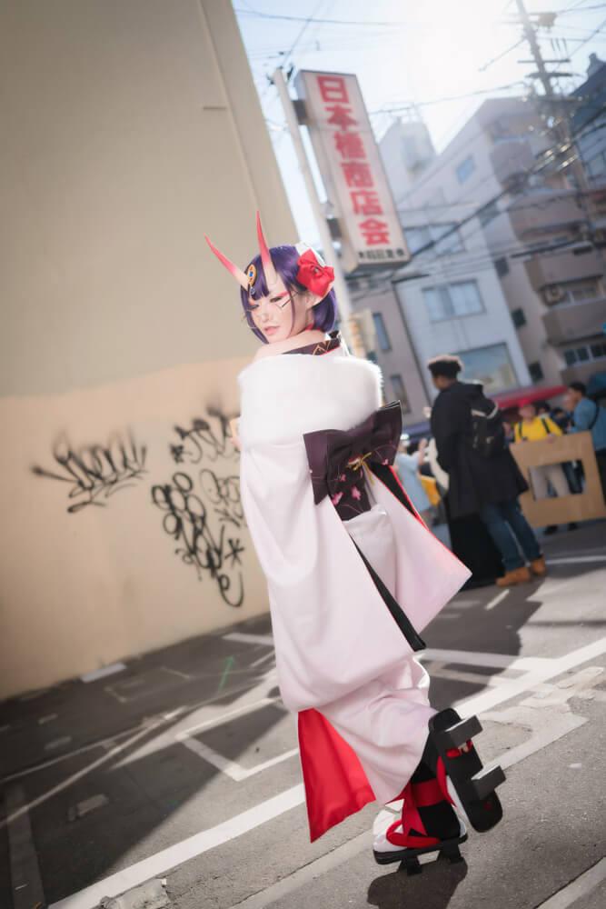 酒呑童子(概念礼装「鬼に衣)「Fate/Grand Order」のコスプレをするコスプレイヤーぶん〜さん008