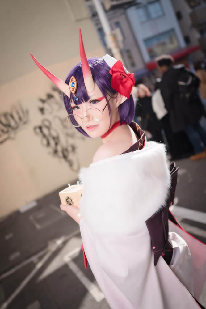 酒呑童子(概念礼装「鬼に衣)「Fate/Grand Order」のコスプレをするコスプレイヤーぶん〜さん002