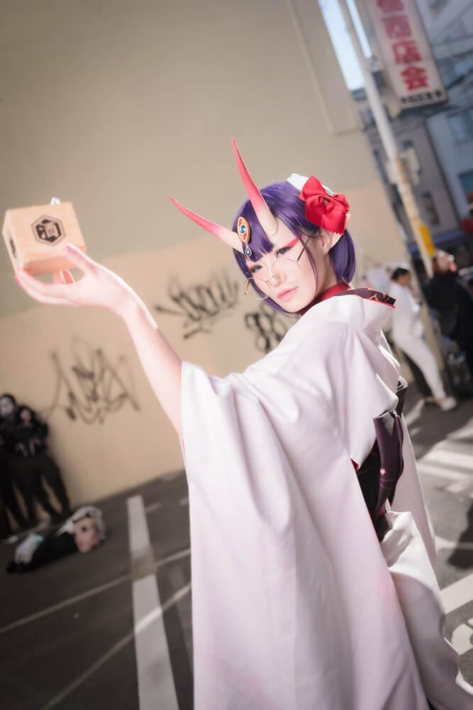酒呑童子(概念礼装「鬼に衣)「Fate/Grand Order」のコスプレをするコスプレイヤーぶん〜さん011