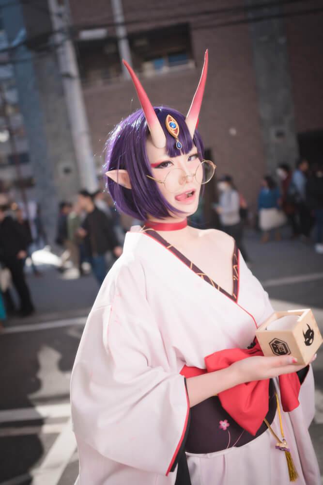 酒呑童子(概念礼装「鬼に衣)「Fate/Grand Order」のコスプレをするコスプレイヤーぶん〜さん003