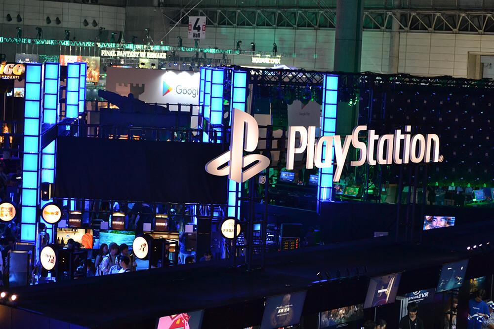 東京ゲームショウ2019(TGS2019)の会場内の企業ブース