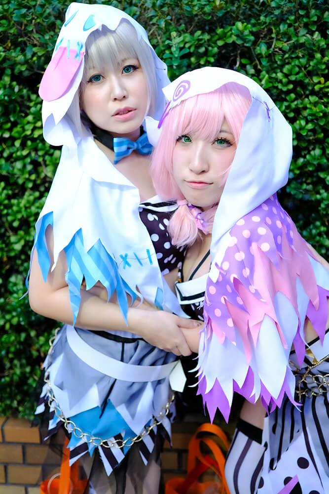 BanG Dream!の青葉モカと上原ひまりのコスプレをするshizukuさんとZI~MAさん02