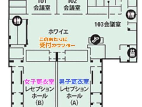 コミケの控室の図