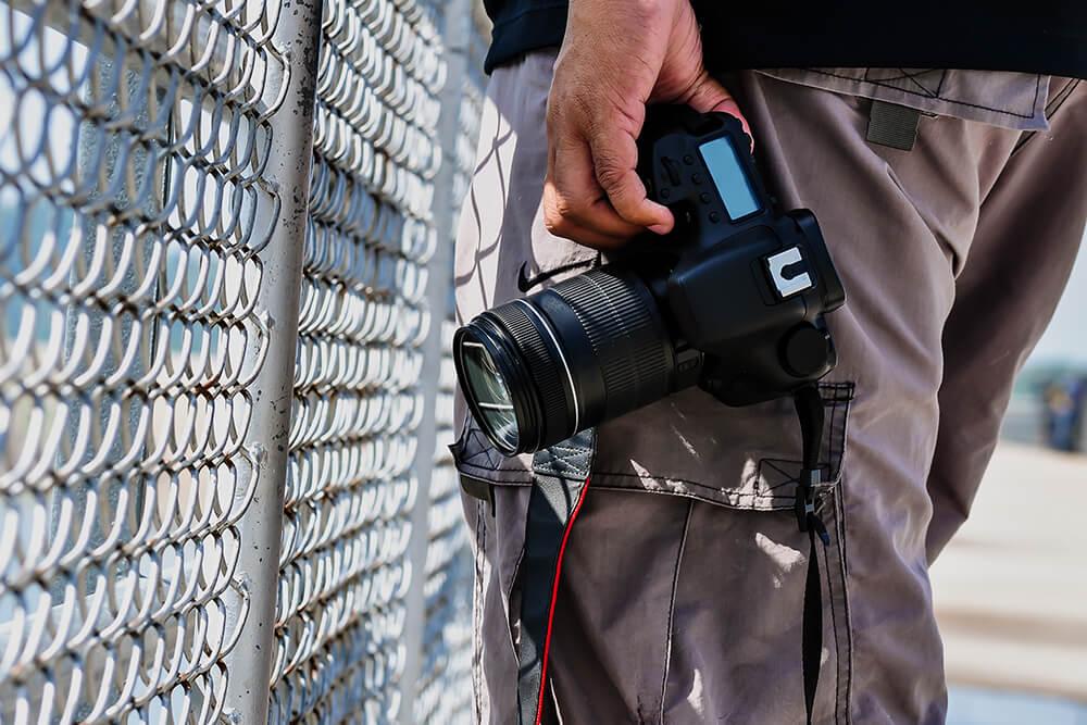 カメラを持ったカメラマン