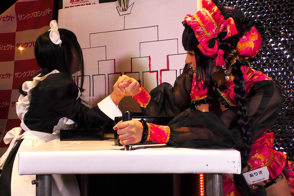 RK vs ありさの腕相撲大会01