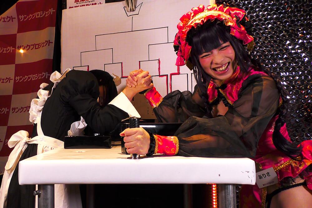 RK vs ありさの腕相撲大会02