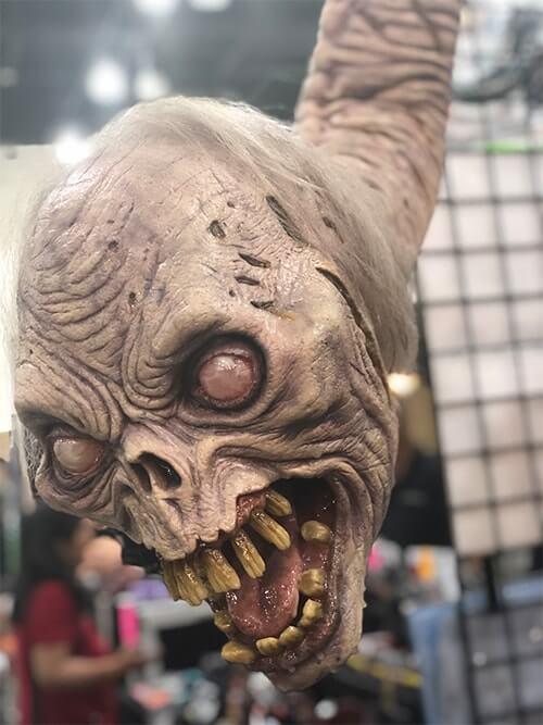 Monster Palooza(モンスター パルーザ)で展示されている生首