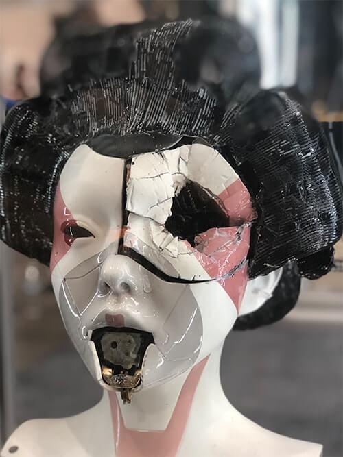Monster Palooza(モンスター パルーザ)で展示されていたハリウッド版のスカヨハ攻殻機動隊(Ghost In The Shell)に登場する出てくる芸者アンドロイドの頭部