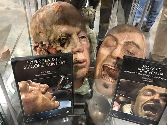 Monster Palooza(モンスター パルーザ)で展示されている特殊メイク用された顔