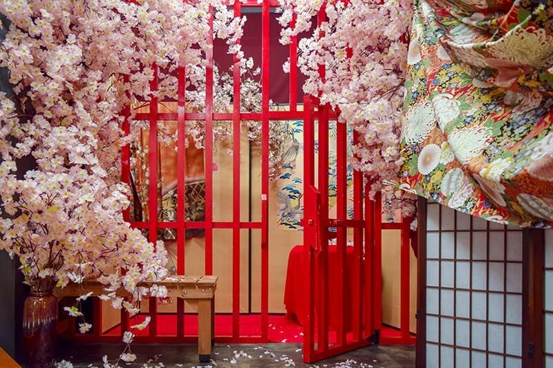 ハコスタジアム大阪の和牢屋―桜―の撮影場所