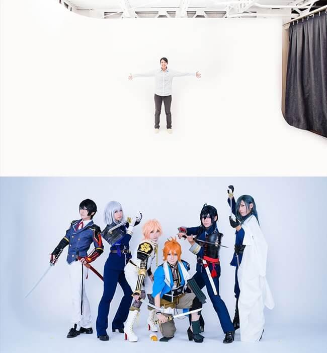 撮影スタジオ「スタジオクオリアなんば桜川店」のベーシックスタジオのブース01