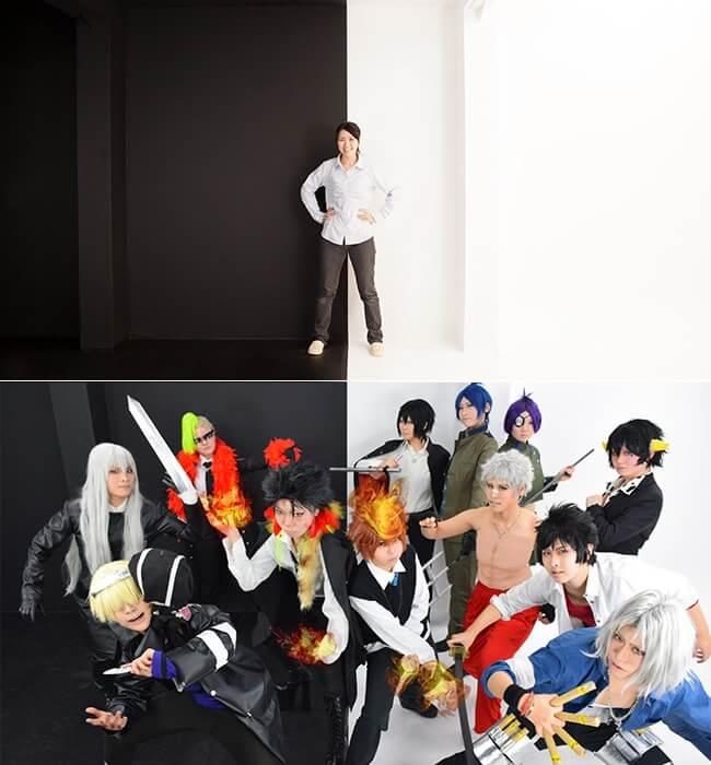 撮影スタジオ「スタジオクオリアなんば桜川店」のベーシックスタジオのブース02