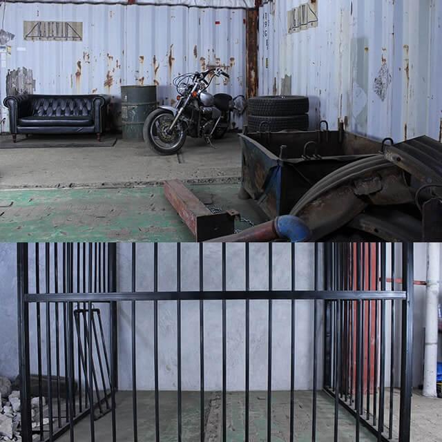 撮影スタジオ「スタジオクオリア新大阪店」の廃墟スタジオのブース01