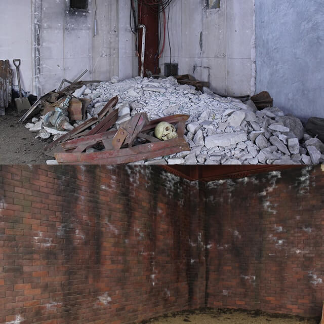 撮影スタジオ「スタジオクオリア新大阪店」の廃墟スタジオのブース02