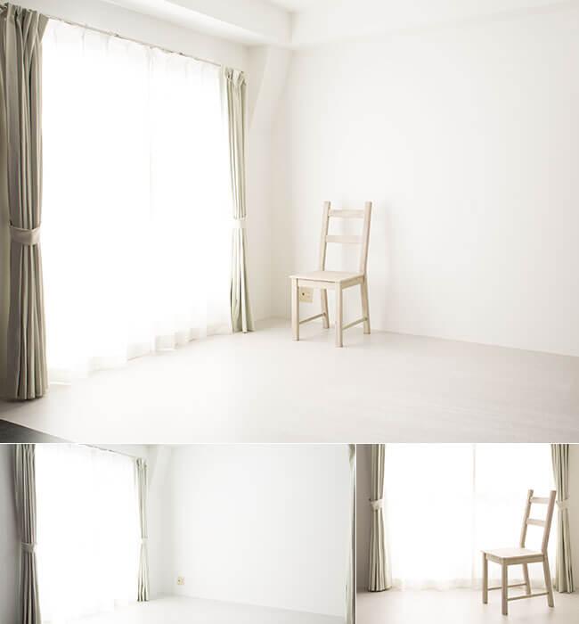 撮影スタジオ「スタジオクオリア新大阪店」のライトスタジオのブース01