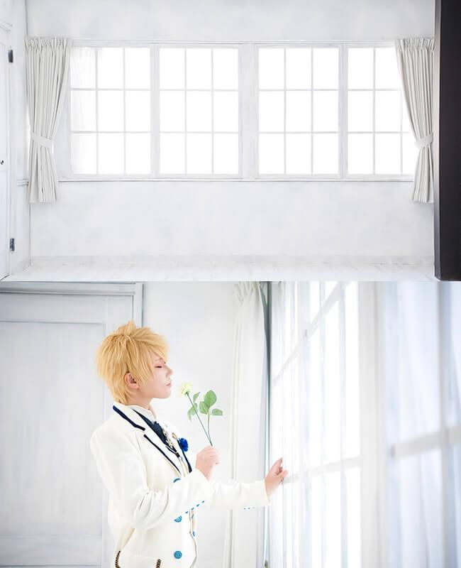 撮影スタジオ「スタジオクオリアなんば桜川店」のシンプルスタジオのブース01