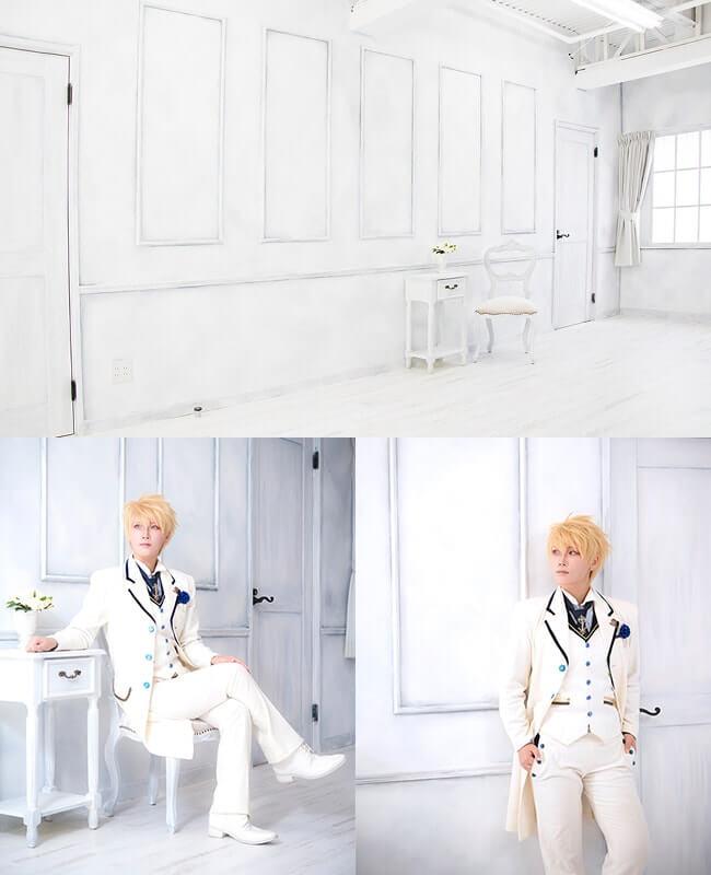 撮影スタジオ「スタジオクオリアなんば桜川店」のシンプルスタジオのブース03