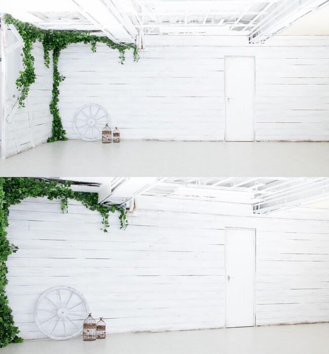 撮影スタジオ「スタジオクオリア新大阪店」のサニースタジオのブース02