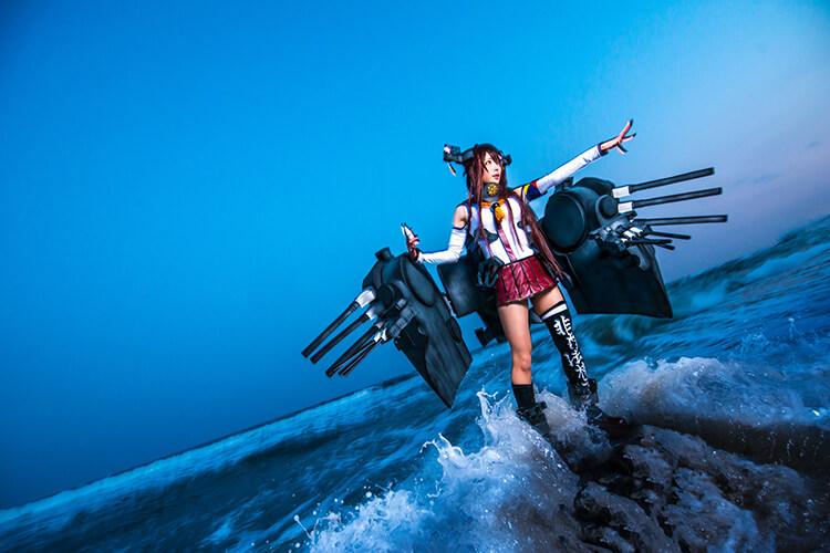 艦コレの大和のコスプレをするコスプレイヤーの-Usagi-さん01